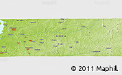 """Physical Panoramic Map of the area around 10°38'32""""N,5°10'30""""E"""