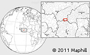 Blank Location Map of Lanfiéra