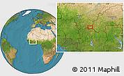 Satellite Location Map of Lanfiéra