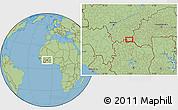 Savanna Style Location Map of Lanfiéra