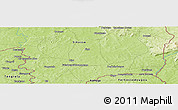 Physical Panoramic Map of Ngolopéné
