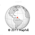 """Outline Map of the Area around 10° 38' 32"""" N, 60° 16' 29"""" W, rectangular outline"""
