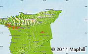 Physical Map of Maraval