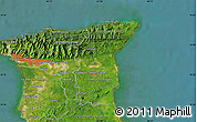 """Satellite Map of the area around 10°38'32""""N,61°7'30""""W"""