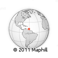 Outline Map of Maraval, rectangular outline