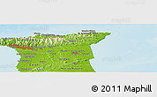 Physical Panoramic Map of Maraval