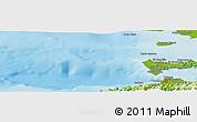 Physical Panoramic Map of Cumaná