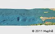 Satellite Panoramic Map of Cumaná