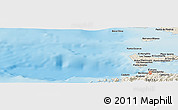 Shaded Relief Panoramic Map of Cumaná