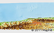 """Physical 3D Map of the area around 10°38'32""""N,67°4'29""""W"""