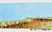 Physical 3D Map of Buena Vista