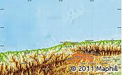 Physical Map of Buena Vista