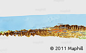 """Physical Panoramic Map of the area around 10°38'32""""N,67°4'29""""W"""