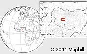Blank Location Map of Baka