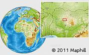 Physical Location Map of Baka