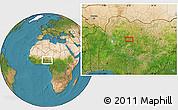 Satellite Location Map of Baka