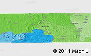 Political Panoramic Map of Chimana