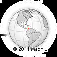 Outline Map of Aruba, rectangular outline