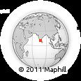 Outline Map of Ramapattinam, rectangular outline