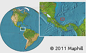 """Satellite Location Map of the area around 10°38'32""""N,81°31'30""""W"""