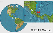 """Satellite Location Map of the area around 10°38'32""""N,82°22'30""""W"""