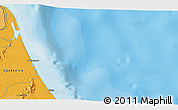 """Political 3D Map of the area around 10°38'32""""N,83°13'29""""W"""