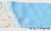 """Shaded Relief 3D Map of the area around 10°38'32""""N,83°13'29""""W"""