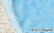 """Shaded Relief Map of the area around 10°38'32""""N,83°13'29""""W"""