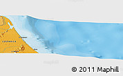 """Political Panoramic Map of the area around 10°38'32""""N,83°13'29""""W"""