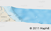 """Shaded Relief Panoramic Map of the area around 10°38'32""""N,83°13'29""""W"""