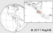 Blank Location Map of Cañas