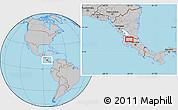 Gray Location Map of Cañas