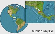 Satellite Location Map of Cañas