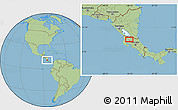 Savanna Style Location Map of Cañas