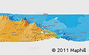 Political Panoramic Map of Cañas