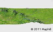 Satellite Panoramic Map of Cañas