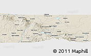 Shaded Relief Panoramic Map of Cañas