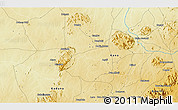 """Physical 3D Map of the area around 10°38'32""""N,8°34'29""""E"""
