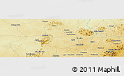 """Physical Panoramic Map of the area around 10°38'32""""N,8°34'29""""E"""
