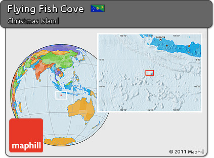 Where Is Christmas Island On A Map.Free Political Location Map Of Flying Fish Cove
