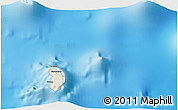 Shaded Relief 3D Map of Hanavave