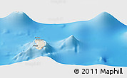 Shaded Relief Panoramic Map of Hanavave