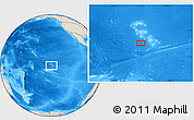 """Shaded Relief Location Map of the area around 10°17'43""""S,140°10'30""""W"""