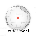"""Outline Map of the Area around 10° 17' 43"""" S, 140° 10' 30"""" W, rectangular outline"""