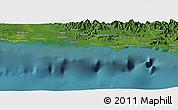 Satellite Panoramic Map of Anamaro