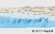 Shaded Relief Panoramic Map of Anamaro