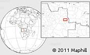 Blank Location Map of Bango