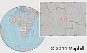 Gray Location Map of Bango, hill shading