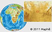 Physical Location Map of Calandissa