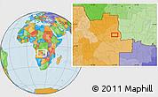 Political Location Map of Calandissa